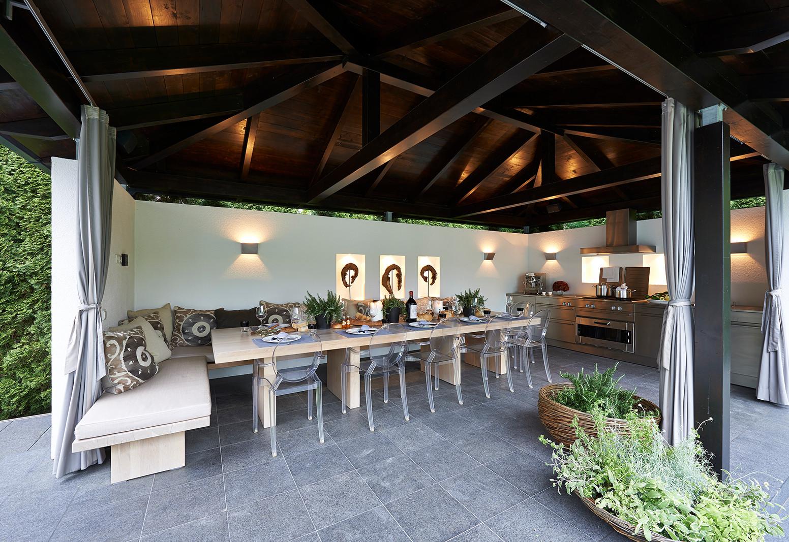 Stefanie Raum Outdoor Pavillon Tisch Raum Contemporary Interior
