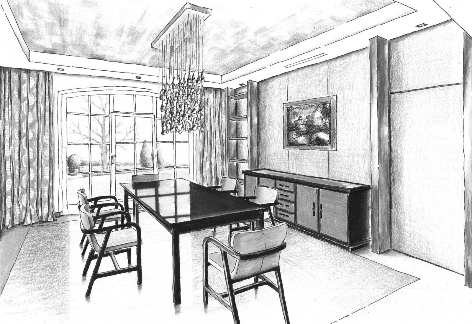 Hier sehen Sie ein Bild von Zeichnung Essbereich - RAUM contemporary interior