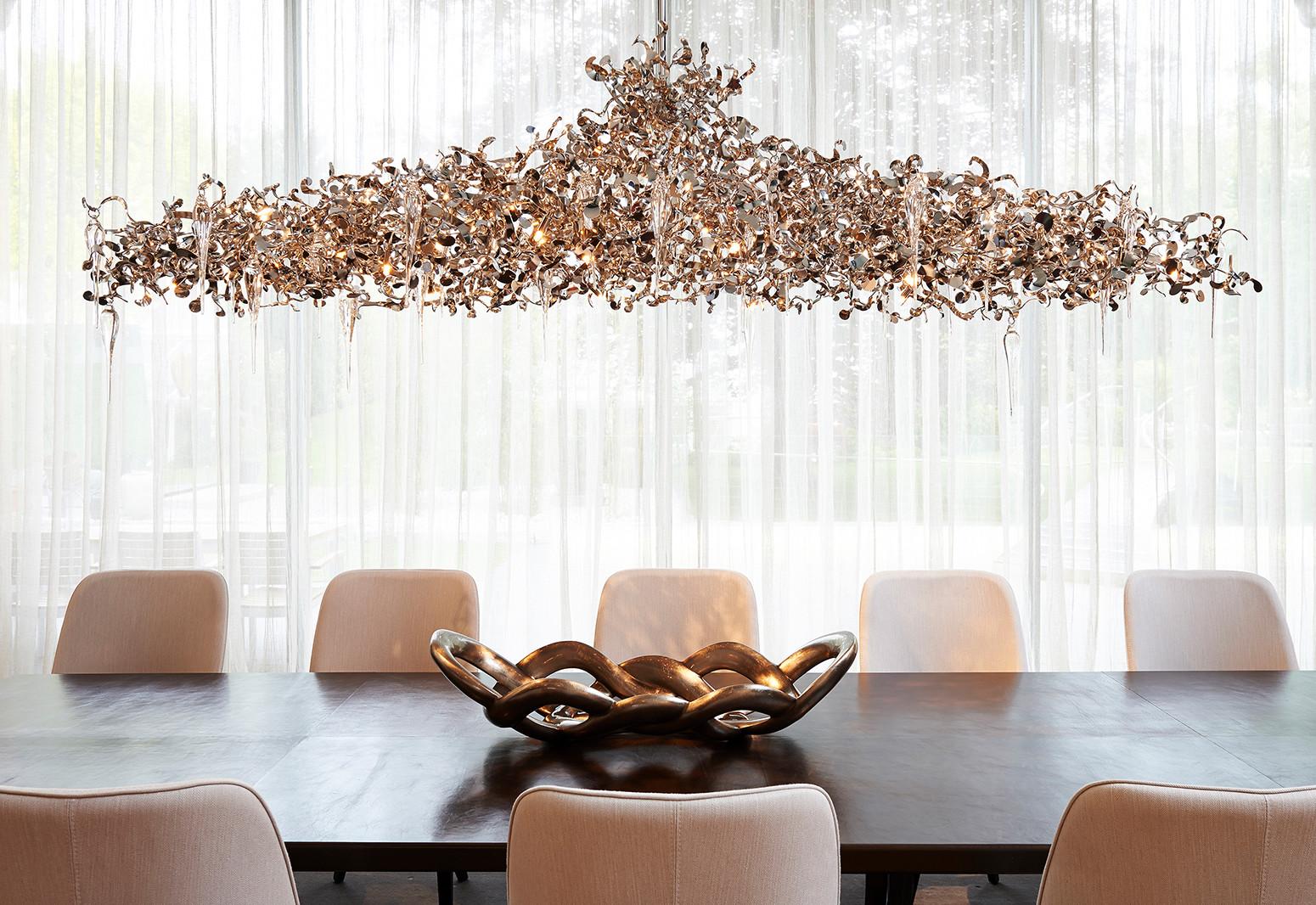 Hier sehen Sie ein Bild von Stefanie Raum Beleuchtung Esszimmer Raum Contemporary Interior